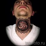 mandala tattoo on his neck - Photo example of the finished tattoo on 01052016 2