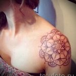 mandala tattoo on his shoulder - Photo example of the finished tattoo on 01052016 2