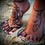 mandala tattoo on the foot 1