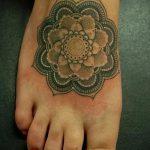 mandala tattoo on the foot 2
