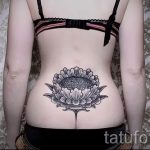 mandala tattoo on the lower back - Photo example of the finished tattoo on 01052016 1