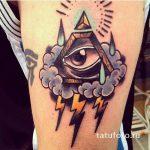 oeil de tatouage dans le triangle pour une fille - une photo du tatouage fini 13052016 2