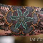 schöne Mandala tattoo - Foto Beispiel des fertigen Tätowierung auf 01052016 2