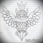 sketch of a tattoo on the neck crown - drawing tattoo on 15052016 1