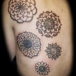 small tattoo mandala - Photo example of the finished tattoo on 01052016 1
