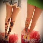tatouage Mickey Mouse sur sa jambe - le tatouage fini sur 16052016 1