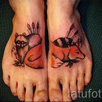 tatouage sur le renard de pied 1
