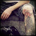 tatouage sur sa jambe pour les gars - photo par exemple 2