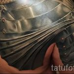 tatouage sur son épaule armure images - un exemple du tatouage fini 16052016 1