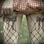 tattoo bows on thighs - Photo example of the finished tattoo 02052016 1