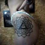 tattoo eye in the triangle for a girl - a photo of the finished tattoo 13052016 1