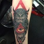 tattoo eye in the triangle on the forearm - a photo of the finished tattoo on 13052016 2
