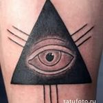 tattoo eye in the triangle on the wrist - a photo of the finished tattoo 13052016 2