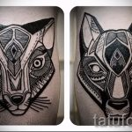tattoo fox and a wolf - a cool tattoo photo on 03052016 1