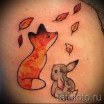 tattoo fox and hare - cool tattoo photo on 03052016 1