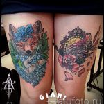 tattoo fox and hare - cool tattoo photo on 03052016 2