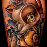 tattoo fox with crown - cool tattoo photo on 03052016 1