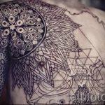 tattoo mandala men - Photo example of the finished tattoo on 01052016 1