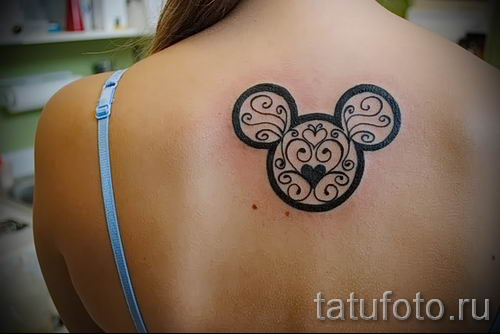tattoo of Mickey Mouse and Minnie 2