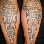 tattoo on his leg for the guys - photo example 1