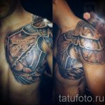 tattoo on shoulder men's leather armor Photo - example of the finished tattoo on 16052016 1