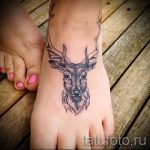 tattoo on the foot deer 1