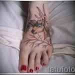 tattoo on the foot deer 2