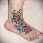 tattoo on the foot female - Photo example of the finished tattoo on 23.05.2016 1