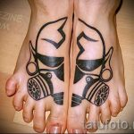 tattoo on the foot men - Photo example of the finished tattoo on 23.05.2016 3