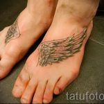 tattoo wings on foot 1