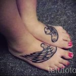 tattoo wings on foot 2