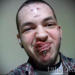 teardrop tatouage sous ses yeux - un exemple de la photographie de 22052016 1