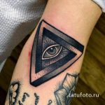 the all-seeing eye in the triangle tattoos - photos of the finished tattoo on 13052016 1