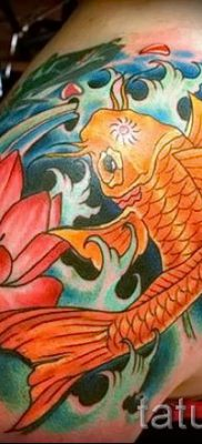 the value of fish and lotus tattoo – Photo example 1