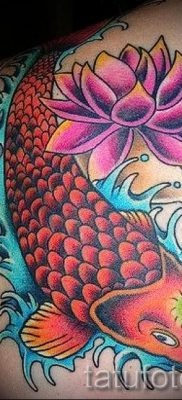 the value of fish and lotus tattoo – Photo example 2