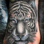 tiger tattoo on foot 4