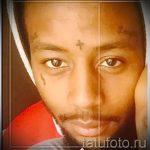 unter seinem Auge Tattoo - ein Beispiel für die Fotografie von 22052016 1