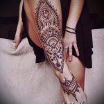 unterzeichnen Mandala tattoo - Foto Beispiel des fertigen Tätowierung auf 01052016 2