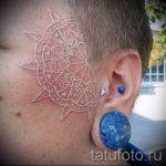 white mandala tattoo - Photo example of the finished tattoo on 01052016 1