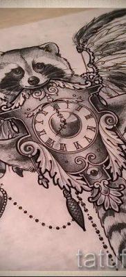 Тату енот – фото готовой татуировки для материала про значение 13