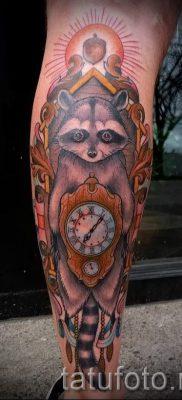 Тату енот – фото готовой татуировки для материала про значение 14
