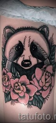 Тату енот – фото готовой татуировки для материала про значение 15