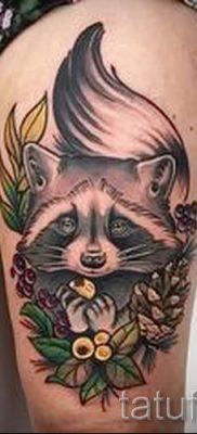 Тату енот – фото готовой татуировки для материала про значение 16