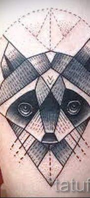 Тату енот – фото готовой татуировки для материала про значение 17