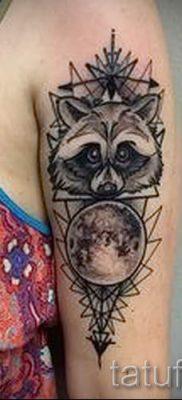 Тату енот – фото готовой татуировки для материала про значение 2