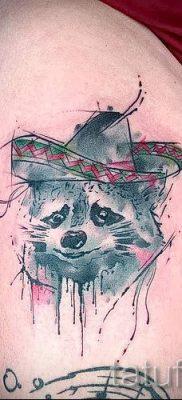 Тату енот – фото готовой татуировки для материала про значение 20
