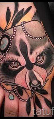 Тату енот – фото готовой татуировки для материала про значение 22