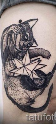 Тату енот – фото готовой татуировки для материала про значение 23