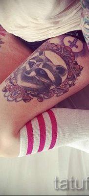 Тату енот – фото готовой татуировки для материала про значение 24