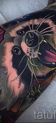 Тату енот – фото готовой татуировки для материала про значение 26